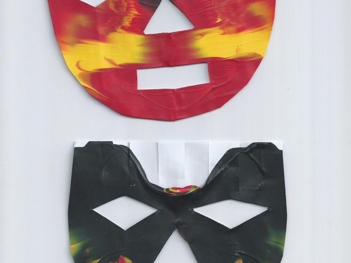 Masque à l'acrylique